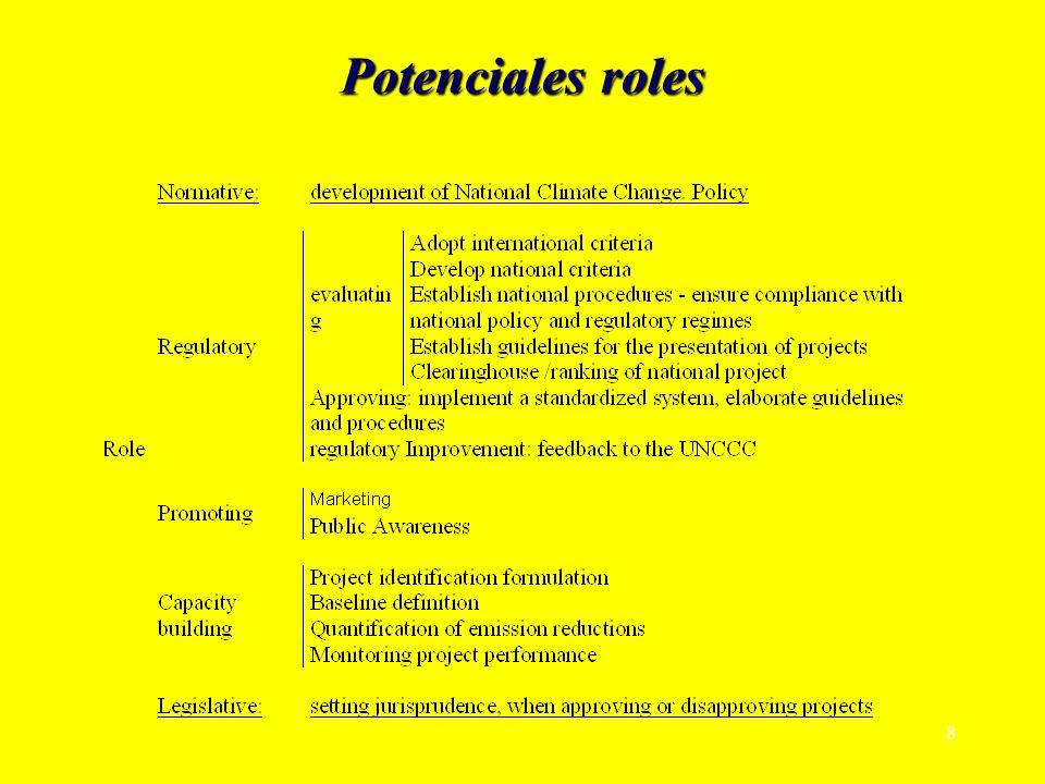 8 Potenciales roles
