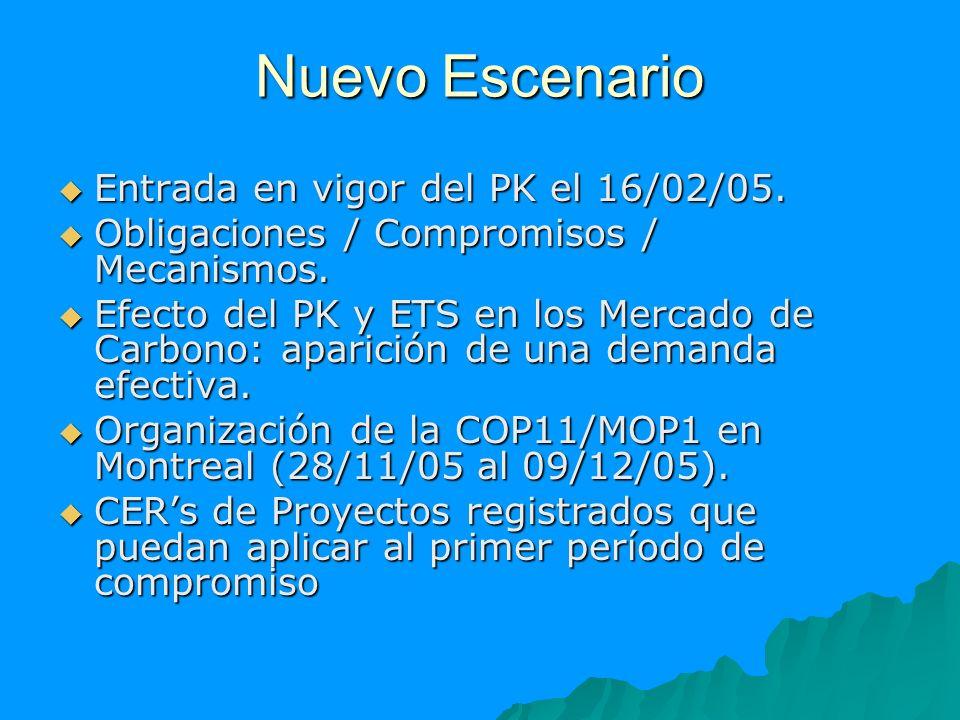 Nuevo Escenario Entrada en vigor del PK el 16/02/05. Entrada en vigor del PK el 16/02/05. Obligaciones / Compromisos / Mecanismos. Obligaciones / Comp