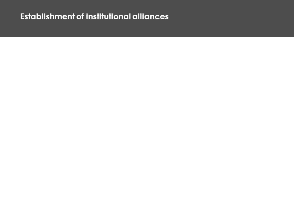 Establishment of institutional alliances