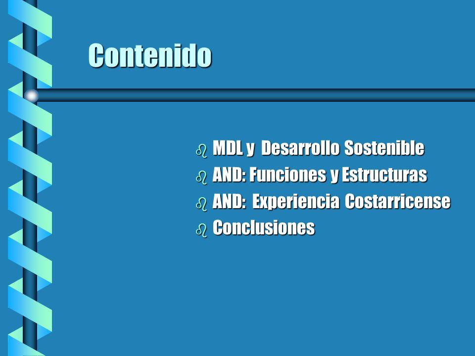 Posible Estructura de una Autoridad Nacional (2) Comité MDL/Funciones: b Proponer políticas, estratégias, directrices, procedimienos, soluciones de conflictos, etc.