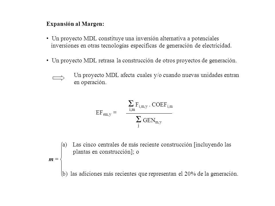 Expansión al Margen: Un proyecto MDL constituye una inversión alternativa a potenciales inversiones en otras tecnologías especificas de generación de