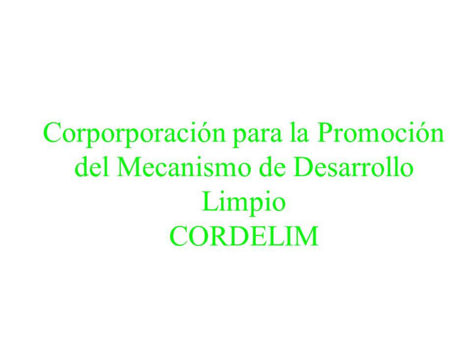 Corporporación para la Promoción del Mecanismo de Desarrollo Limpio CORDELIM