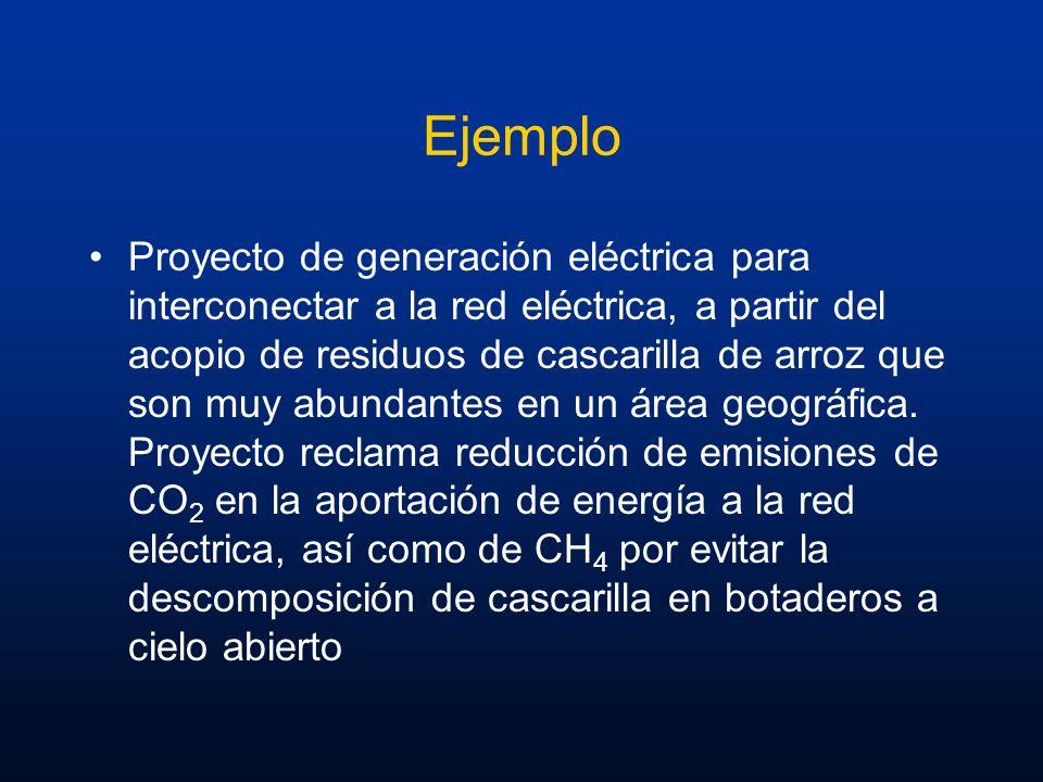 Ejemplo Proyecto de generación eléctrica para interconectar a la red eléctrica, a partir del acopio de residuos de cascarilla de arroz que son muy abu