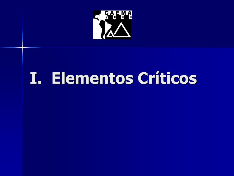 I. Elementos Críticos