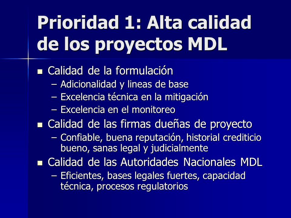 Recomendaciones Éxito lleva a éxito: concentrarnos en hacer los primeros proyectos MDL exitosos Éxito lleva a éxito: concentrarnos en hacer los primer