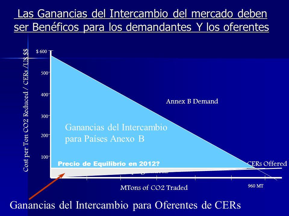 Riesgos percibidos e incertidumbre de los inversionistas del Anexo B El MDL si funcionará bajo un esquema de mercado día a día.
