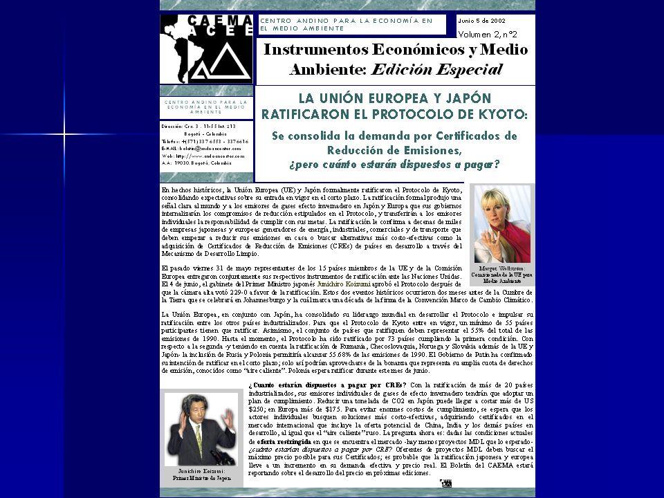 Lectura Recomendada Boletin del CAEMA: INSTRUMENTOS ECONOMICOS Y MEDIO AMBIENTE Boletin del CAEMA: INSTRUMENTOS ECONOMICOS Y MEDIO AMBIENTE –(SIN COST