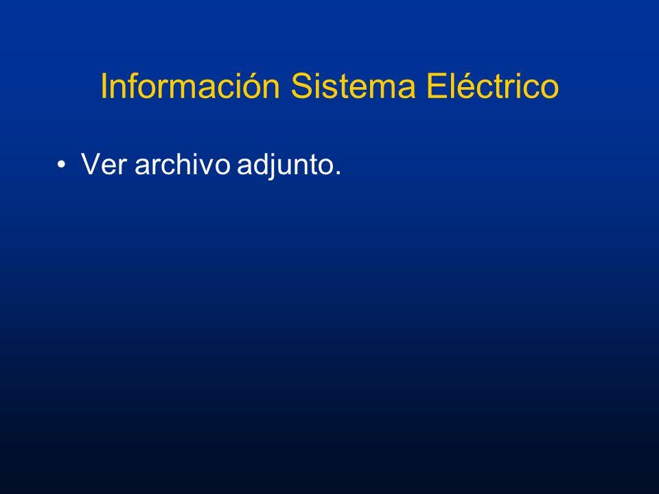 Información Sistema Eléctrico Ver archivo adjunto.
