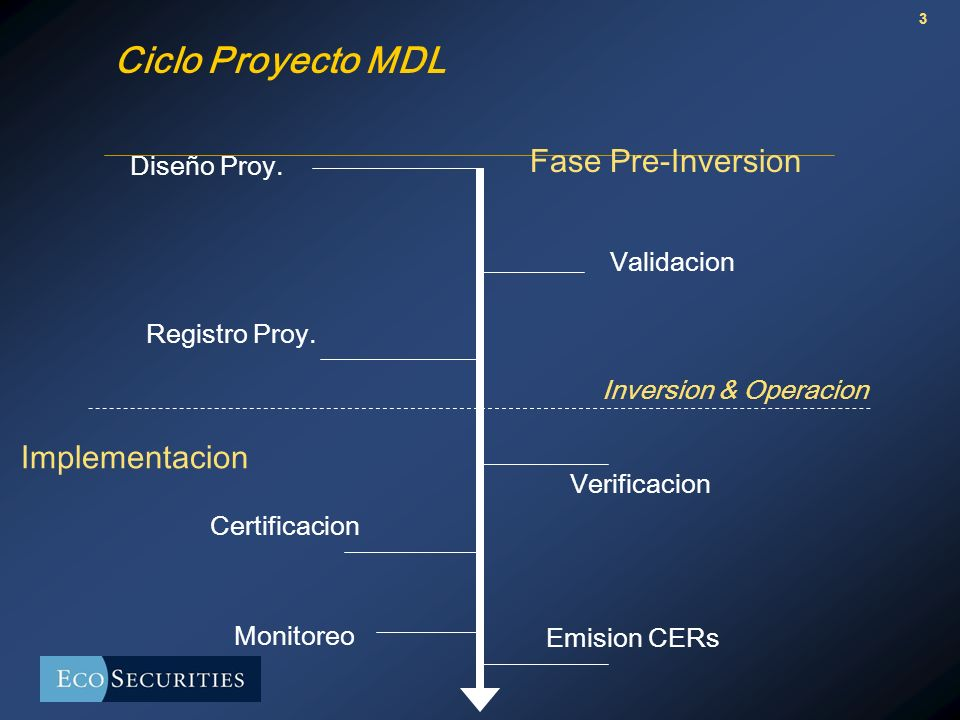 3 Ciclo Proyecto MDL Diseño Proy. Validacion Registro Proy.