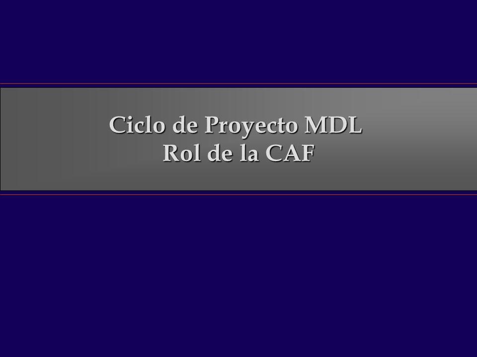 Ciclo de Proyecto MDL Rol de la CAF