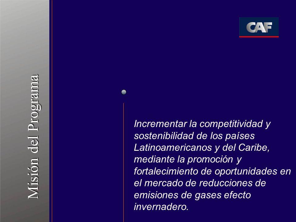 Incrementar la competitividad y sostenibilidad de los países Latinoamericanos y del Caribe, mediante la promoción y fortalecimiento de oportunidades e