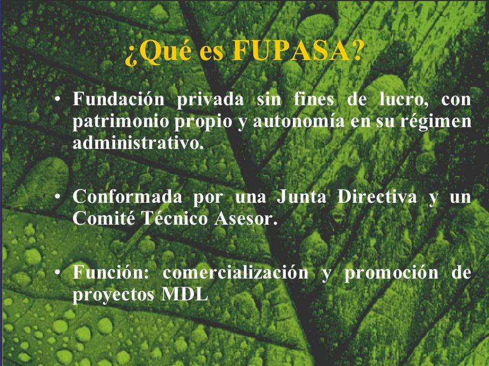 ¿Qué es FUPASA? Fundación privada sin fines de lucro, con patrimonio propio y autonomía en su régimen administrativo. Conformada por una Junta Directi