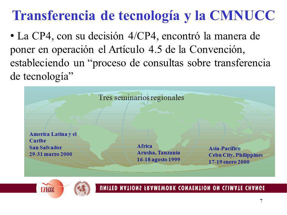 17 Visite la página web oficial del MDL de la CMNUCC: http://cdm.unfccc.int/ y nuestro prototipo de sistema de información tecnológica (clearing house) http://ttclear.unfccc.int o me pueden contactar en: dvioletti@unfccc.int Para información adicional