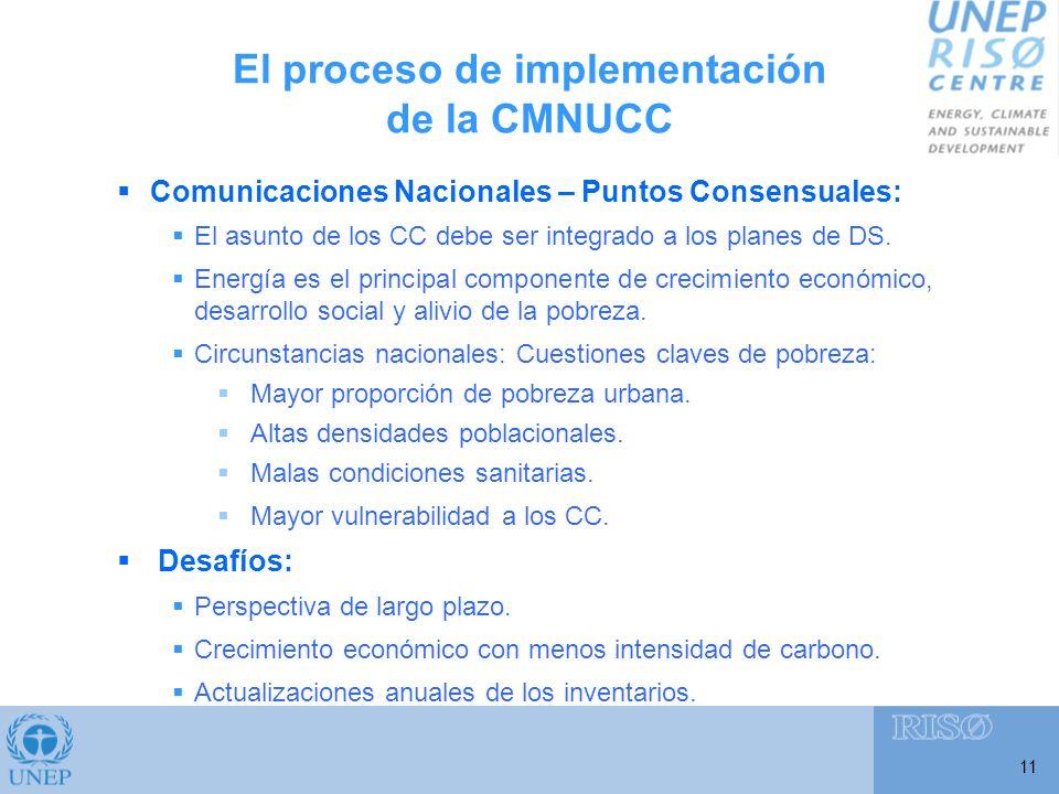 11 Comunicaciones Nacionales – Puntos Consensuales: El asunto de los CC debe ser integrado a los planes de DS.