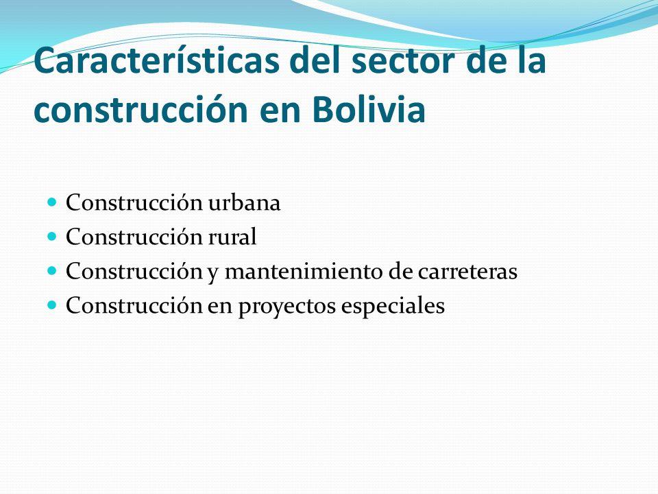 Condiciones de trabajo en la construcción Las condiciones de trabajo en la construcción constituyen un tema que muestra la precaria situación de los trabajadores como reflejo de la situación económica boliviana y su difícil proceso hacia la modernidad El desempleo y sobre todo el subempleo generados por la falta de fuentes de trabajo y la migración interna, contribuyen a que los empleadores del sector de la construcción no den la debida atención a las condiciones de trabajo ni a las medidas de prevención.