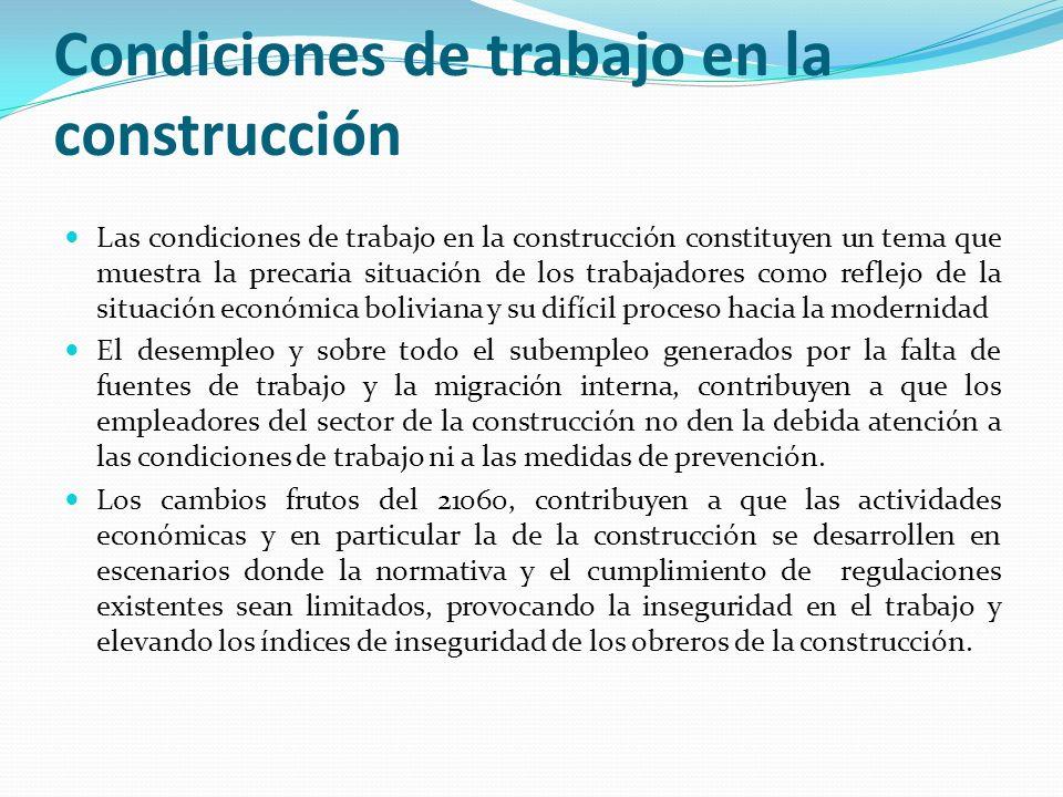 Condiciones de SST en la construcción a nivel general Los empleadores asumen la temática como una carga económica.