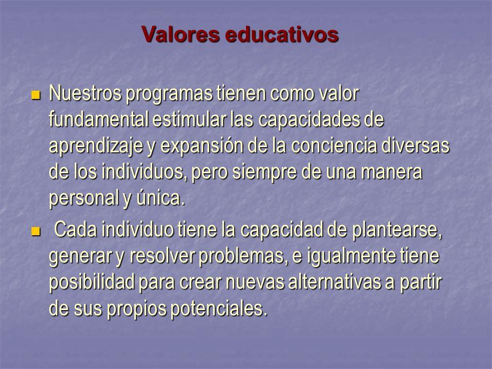 Propósitos educativos Facilitar el desarrollo humano integral.