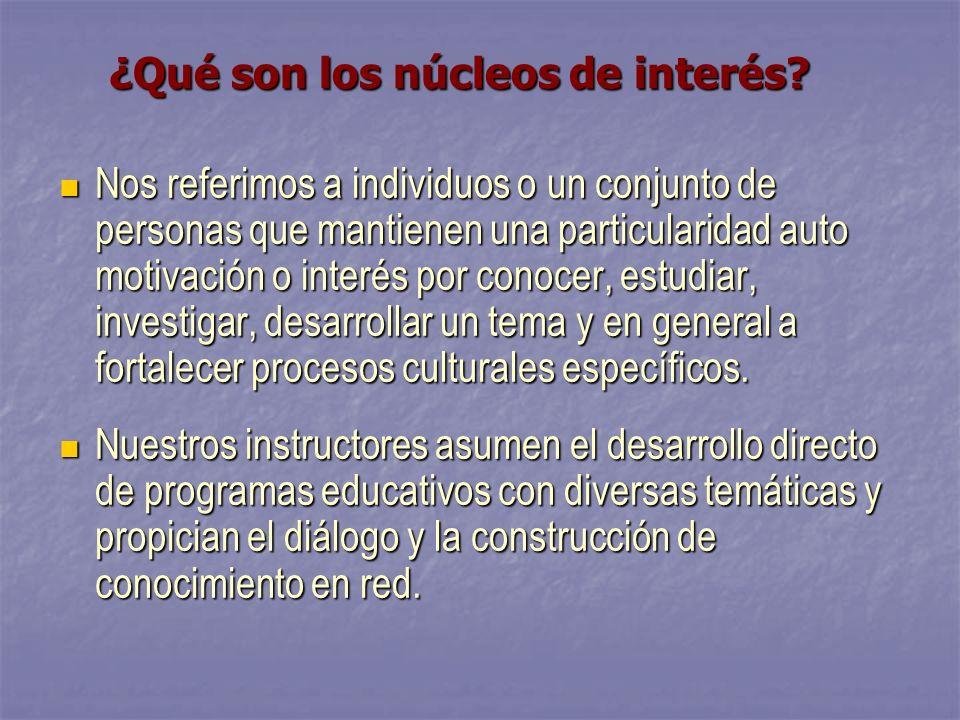 ¿Qué son los núcleos de interés.