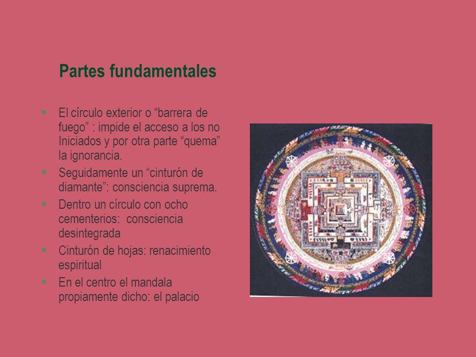 Partes fundamentales §El círculo exterior o barrera de fuego : impide el acceso a los no Iniciados y por otra parte quema la ignorancia. §Seguidamente