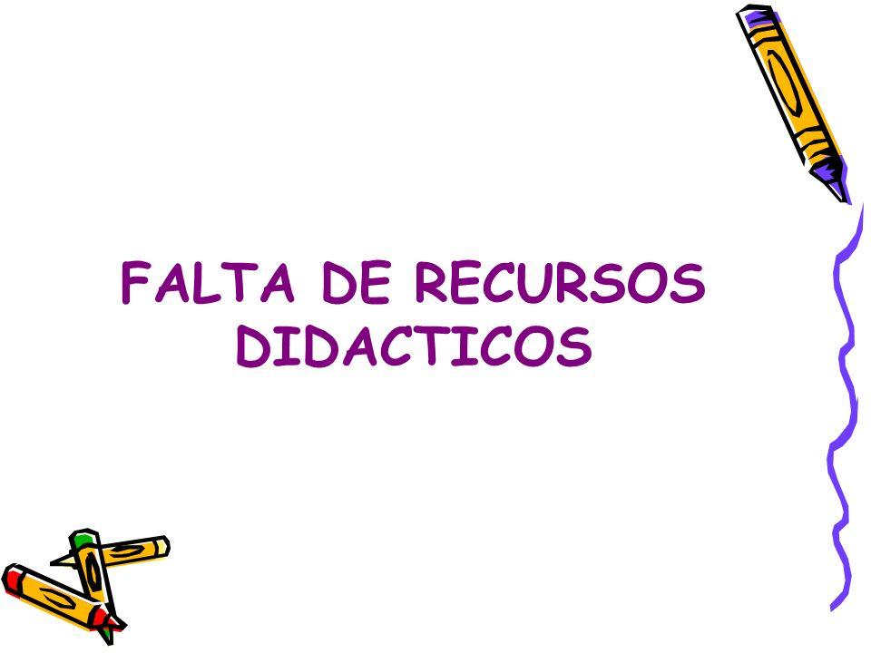 FALTA DE RECURSOS DIDACTICOS