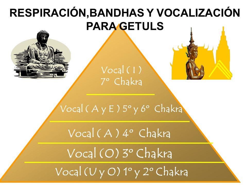 19 Vocal (U y O) 1º y 2º Chakra Vocal (O) 3º Chakra Vocal ( A y E ) 5º y 6º Chakra Vocal ( I ) 7º Chakra RESPIRACIÓN,BANDHAS Y VOCALIZACIÓN PARA GETUL