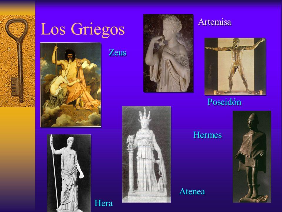 Zeus Artemisa Atenea Hera Hermes Poseidón