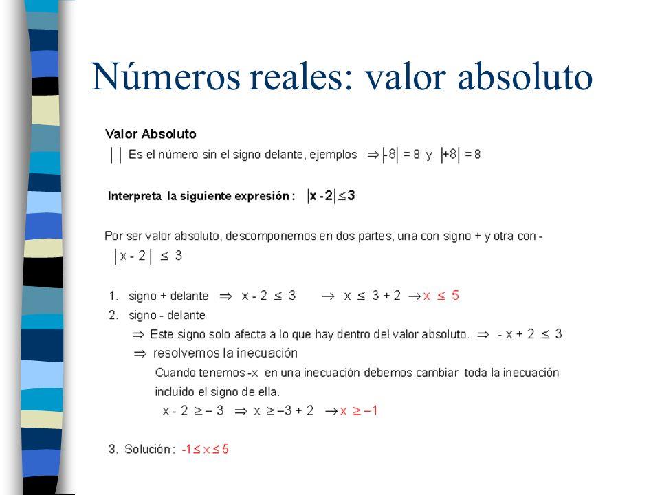 Ejercicios: –Ejercicio 4 página29 c) (-, 0) U (3, + ) –Ejercicio 2 página 30 e) |X - 4 | > 2