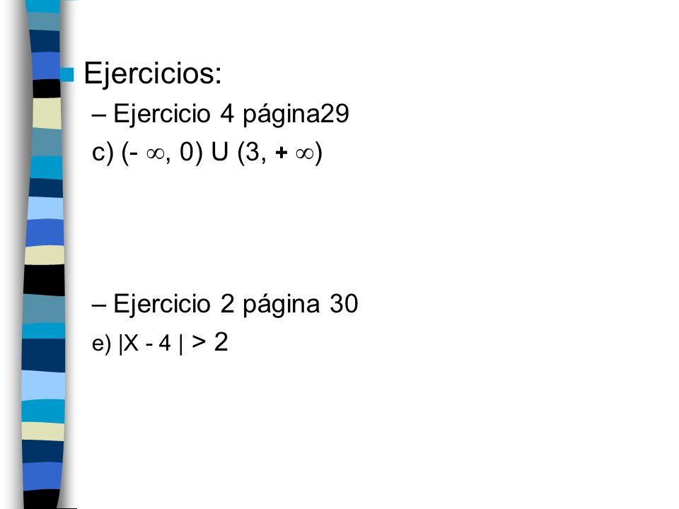 Logaritmos: observaciones El logaritmo de 1 es 0 en cualquier base El logaritmo de la base es siempre 1 No existen logaritmos de números menores o iguales a cero En los logaritmos decimales (base 10), no se suele indicar la base Ln significa logaritmo neperiano (base e)