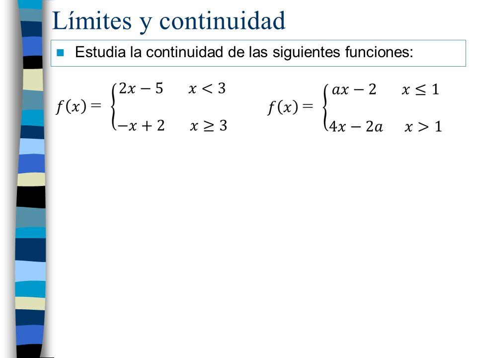 Estudia la continuidad de las siguientes funciones:
