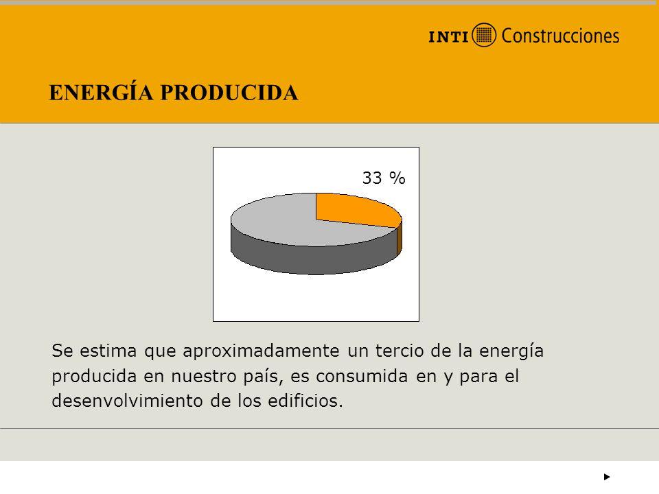 ENERGÍA PRODUCIDA Se estima que aproximadamente un tercio de la energía producida en nuestro país, es consumida en y para el desenvolvimiento de los e