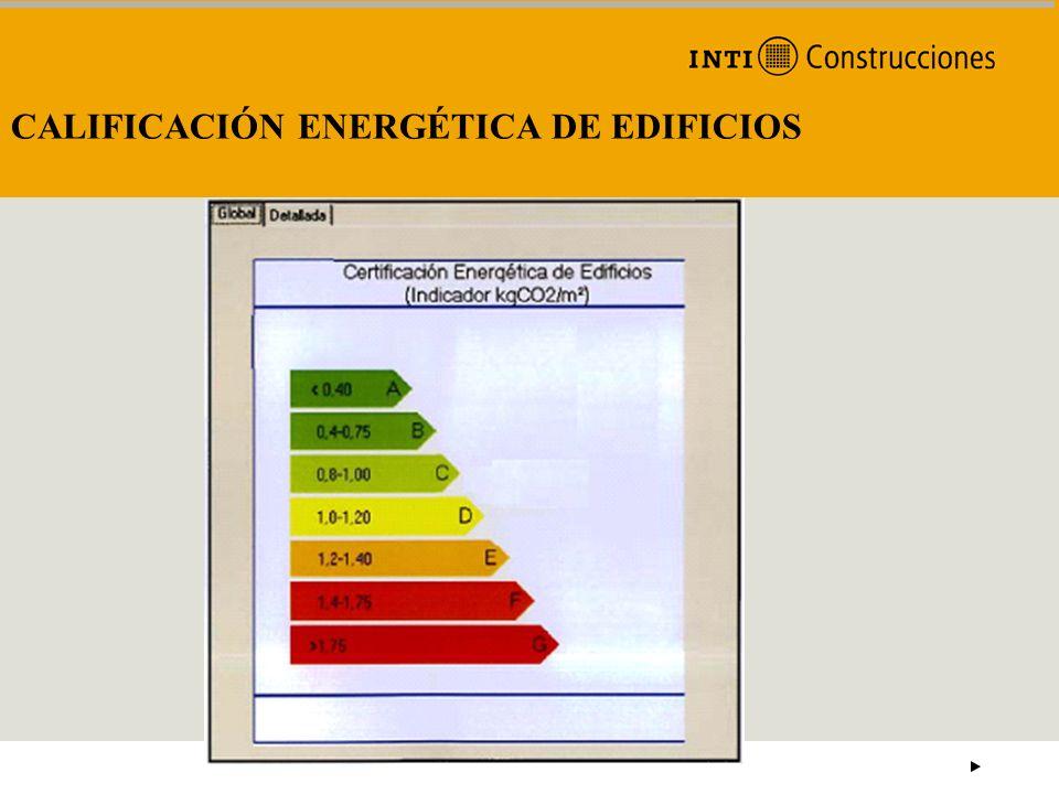 CALIFICACIÓN ENERGÉTICA DE EDIFICIOS