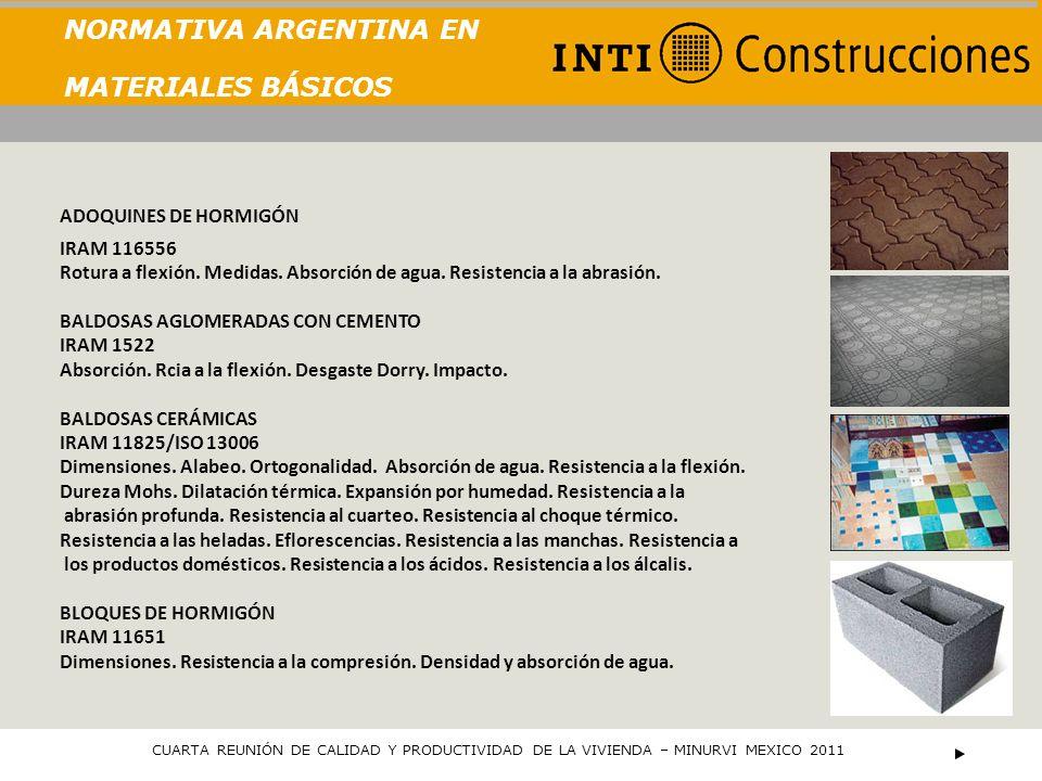 NORMATIVA ARGENTINA EN MATERIALES BÁSICOS LADRILLOS Y BLOQUES CERÁMICOS IRAM 12585 - 12586/87/88/89/90/91/92/93 Dimensiones.