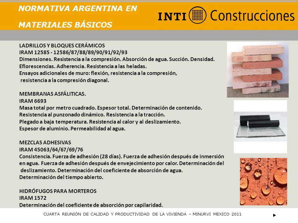 NORMATIVA ARGENTINA EN MATERIALES BÁSICOS PLACAS DE ROCA DE YESO IRAM 11644/45 Geometría.