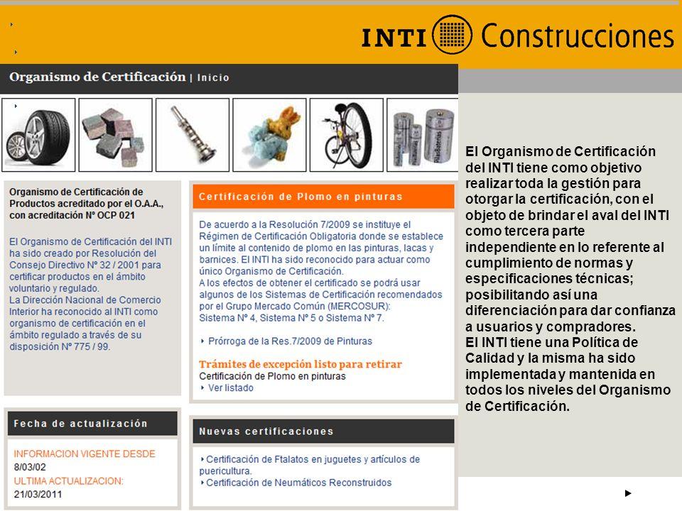 Instituto Nacional de Tecnología Industrial CAMPO OBLIGATORIO CUARTA REUNIÓN DE CALIDAD Y PRODUCTIVIDAD DE LA VIVIENDA – MINURVI MEXICO 2011