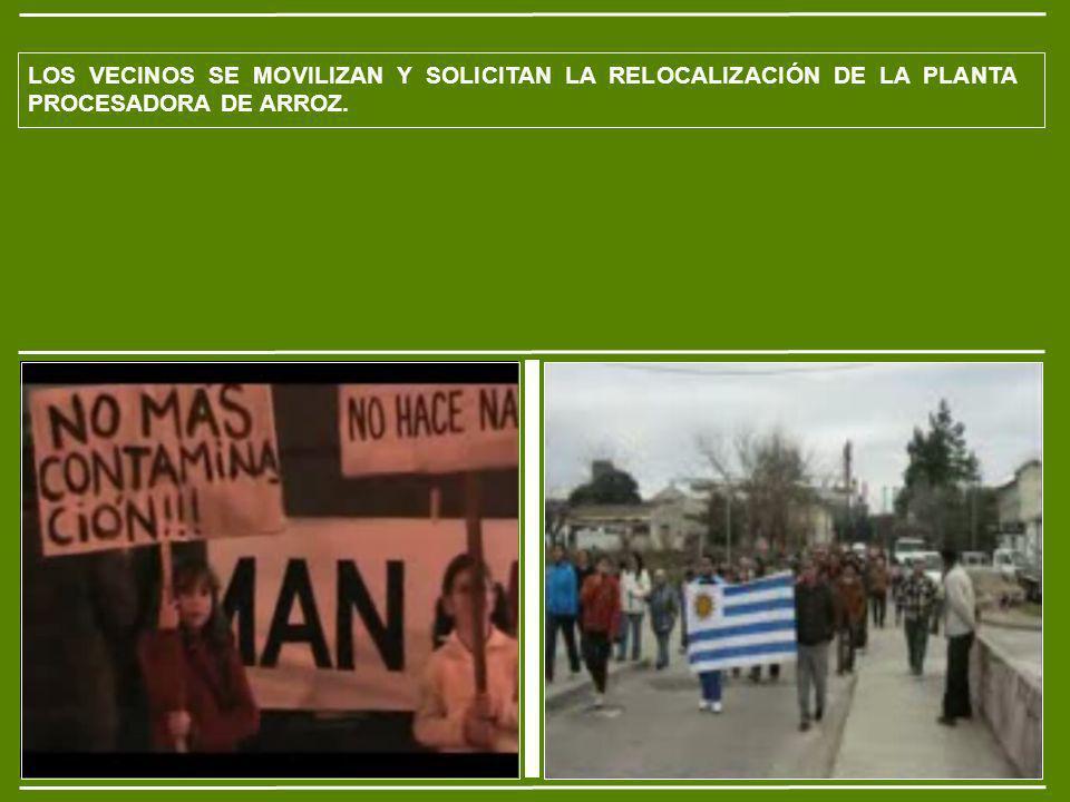 LOS VECINOS SE MOVILIZAN Y SOLICITAN LA RELOCALIZACIÓN DE LA PLANTA PROCESADORA DE ARROZ.
