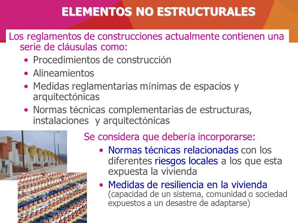 Los reglamentos de construcciones actualmente contienen una serie de cl á usulas como: Procedimientos de construcci ó n Alineamientos Medidas reglamen