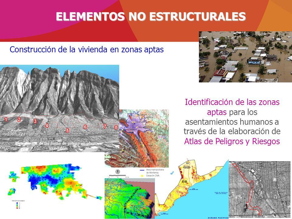 Identificaci ó n de las zonas aptas para los asentamientos humanos a trav é s de la elaboraci ó n de Atlas de Peligros y Riesgos Construcci ó n de la