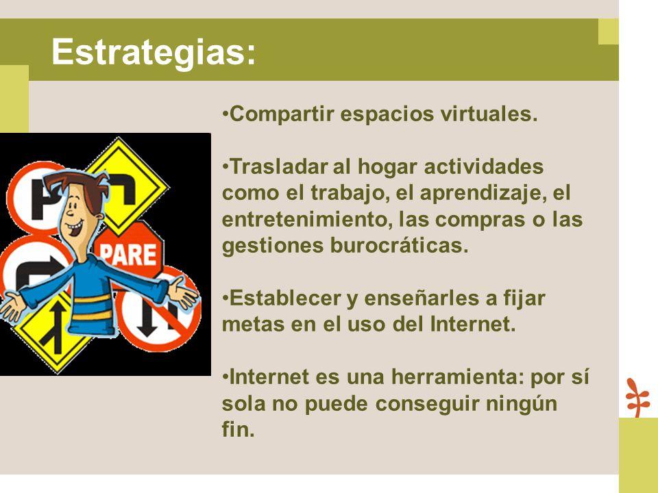 Compartir espacios virtuales. Trasladar al hogar actividades como el trabajo, el aprendizaje, el entretenimiento, las compras o las gestiones burocrát