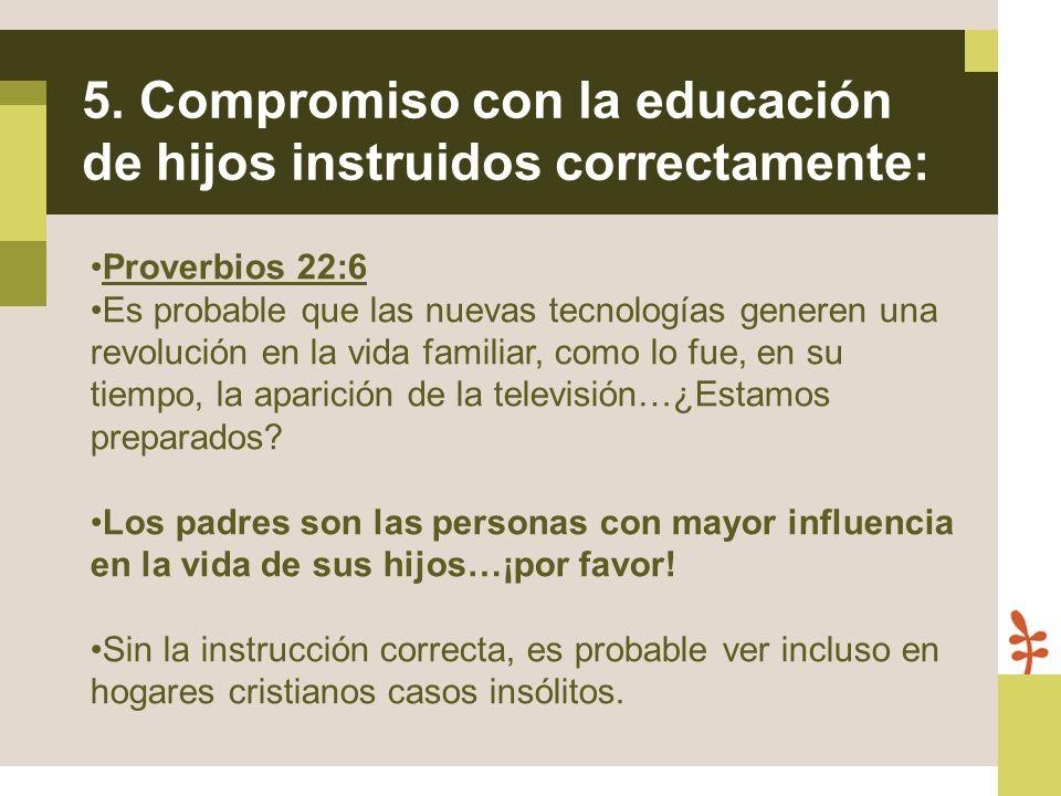 Proverbios 22:6 Es probable que las nuevas tecnologías generen una revolución en la vida familiar, como lo fue, en su tiempo, la aparición de la telev