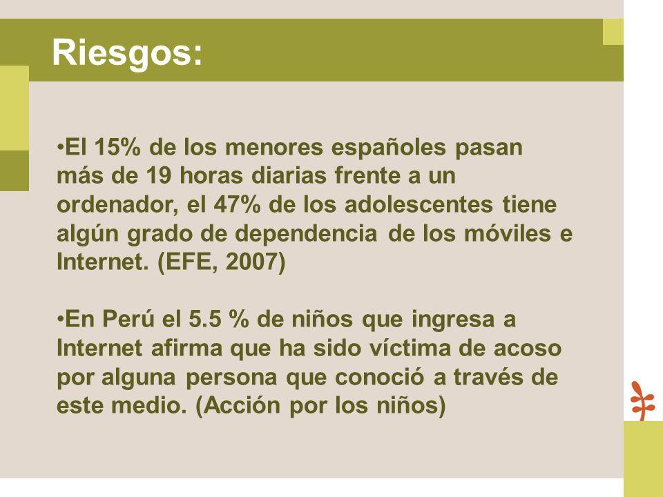 El 15% de los menores españoles pasan más de 19 horas diarias frente a un ordenador, el 47% de los adolescentes tiene algún grado de dependencia de lo