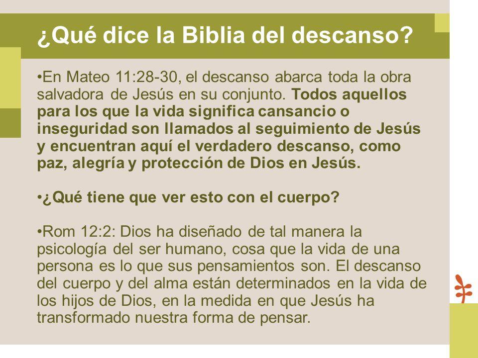 En Mateo 11:28-30, el descanso abarca toda la obra salvadora de Jesús en su conjunto. Todos aquellos para los que la vida significa cansancio o insegu