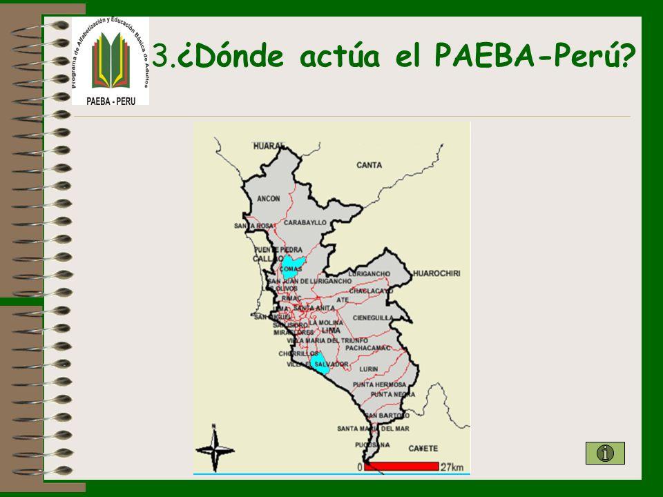 3.¿Dónde actúa el PAEBA-Perú?