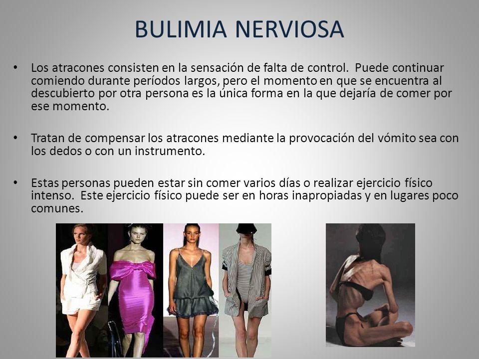 TIPOS DE BULIMIA Tipo Purgativo.Provocación del vómito.