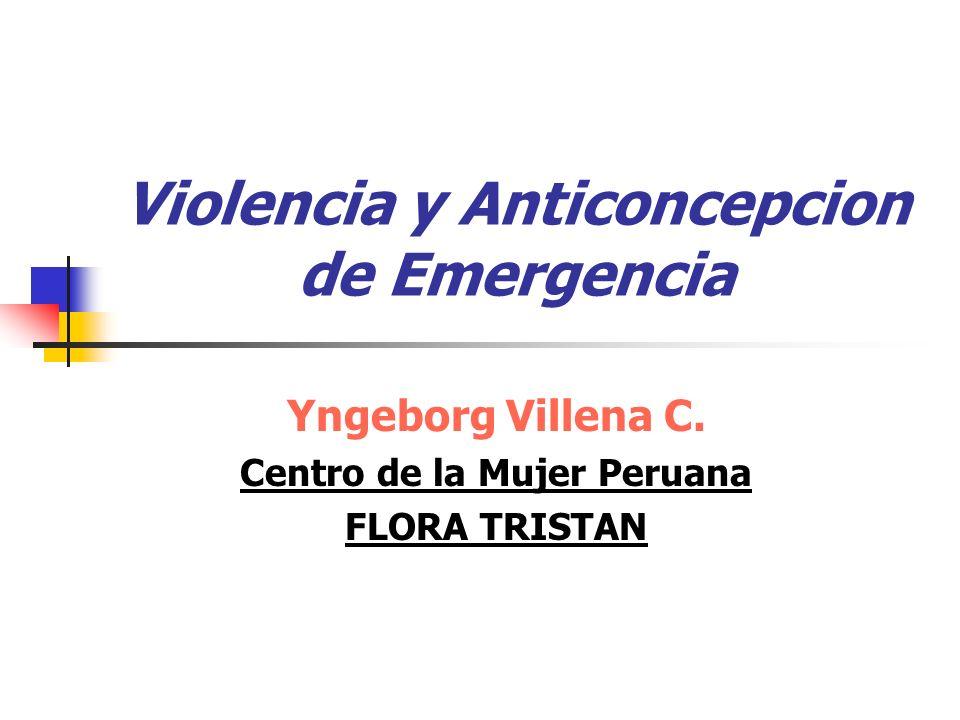 Violencia y Anticoncepcion de Emergencia Yngeborg Villena C.