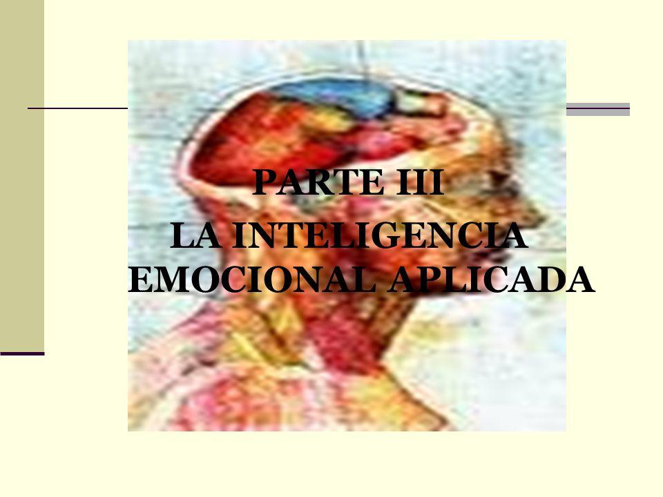 PARTE III LA INTELIGENCIA EMOCIONAL APLICADA
