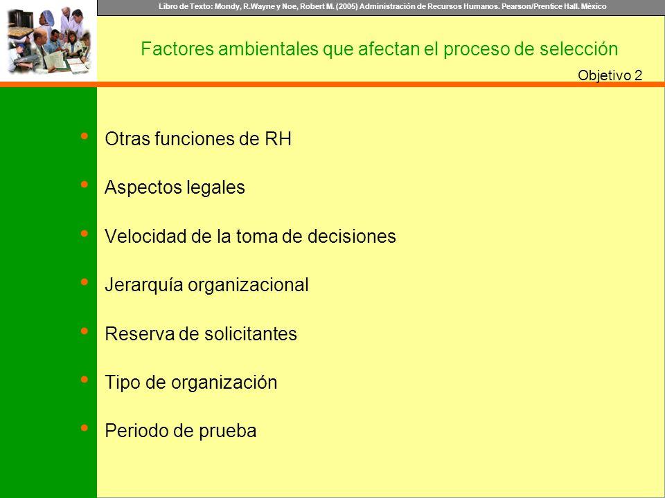 Libro de Texto: Mondy, R.Wayne y Noe, Robert M. (2005) Administración de Recursos Humanos. Pearson/Prentice Hall. México Objetivo Otras funciones de R