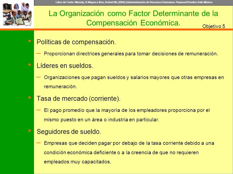Libro de Texto: Mondy, R.Wayne y Noe, Robert M. (2005) Administración de Recursos Humanos. Pearson/Prentice Hall. México Objetivo Políticas de compens