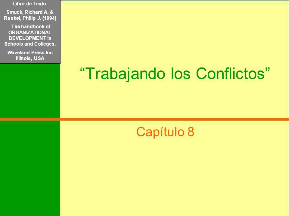 Libro de Texto: Mondy, R.Wayne y Noe, Robert M. (2005) Administración de Recursos Humanos. Pearson/Prentice Hall. México Trabajando los Conflictos Cap