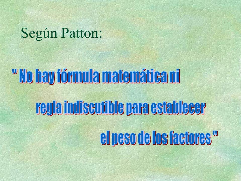 Según Patton: