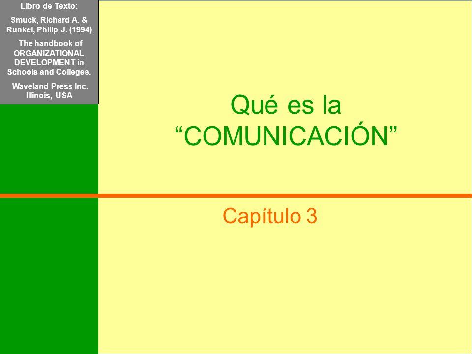 Libro de Texto: Mondy, R.Wayne y Noe, Robert M. (2005) Administración de Recursos Humanos. Pearson/Prentice Hall. México Qué es la COMUNICACIÓN Capítu